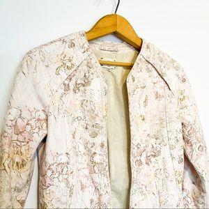 Linen WILFRED Cream Floral Blazer